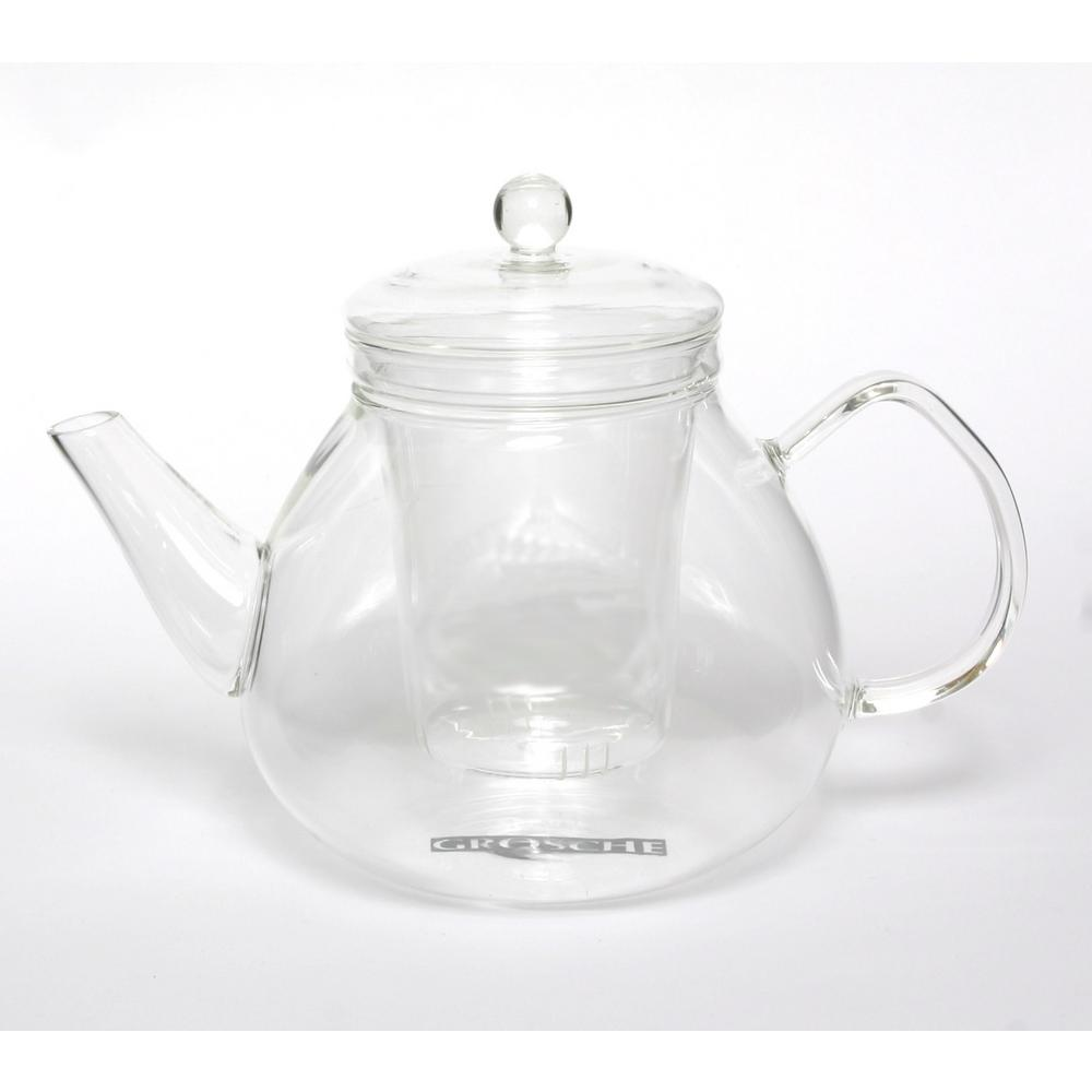 Grosche Glasgow 42 oz. Glass Teapot with Removable Glass ...