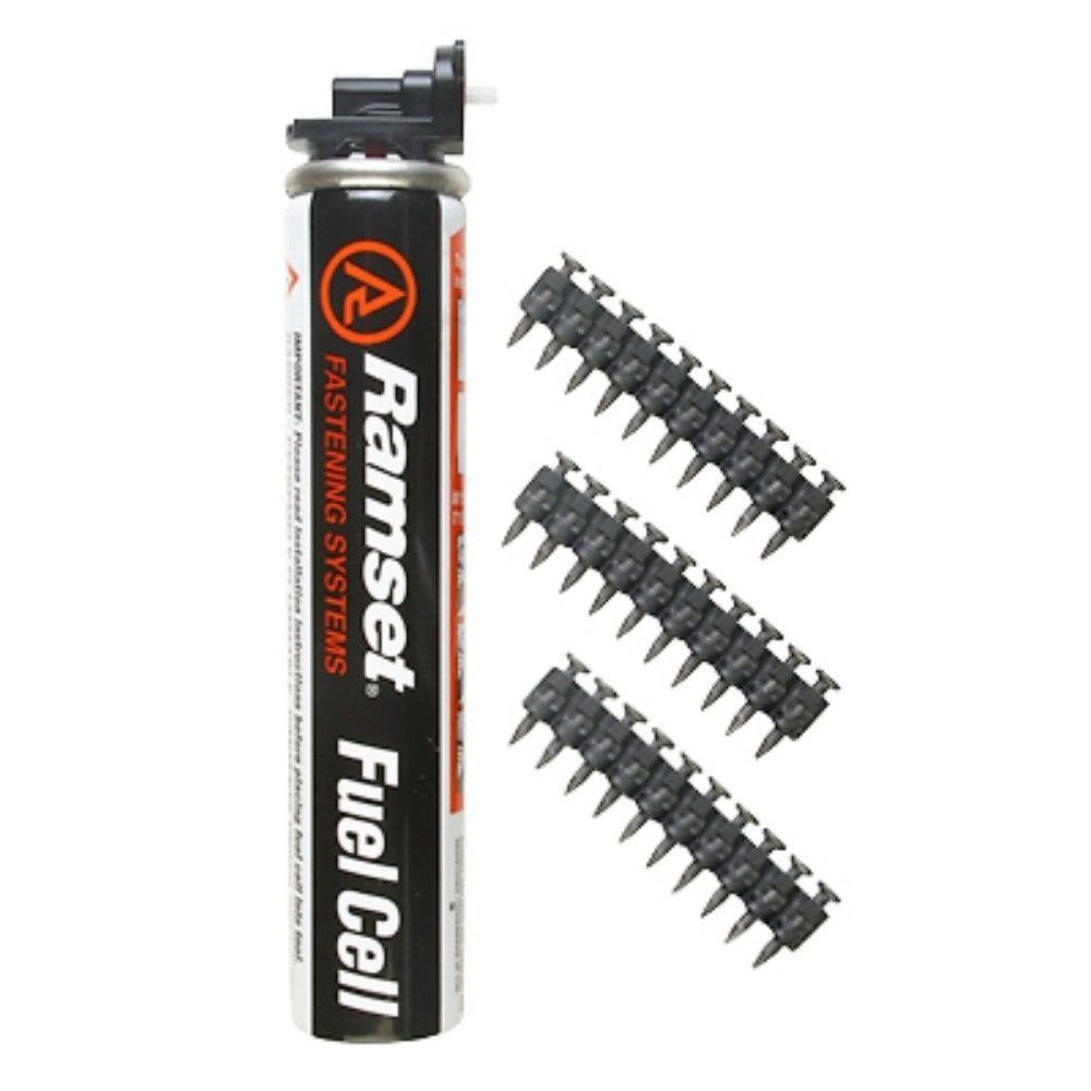 Ramset TrakFast Standard 1 in. Fuel/Pin Pack (1000-Pack)