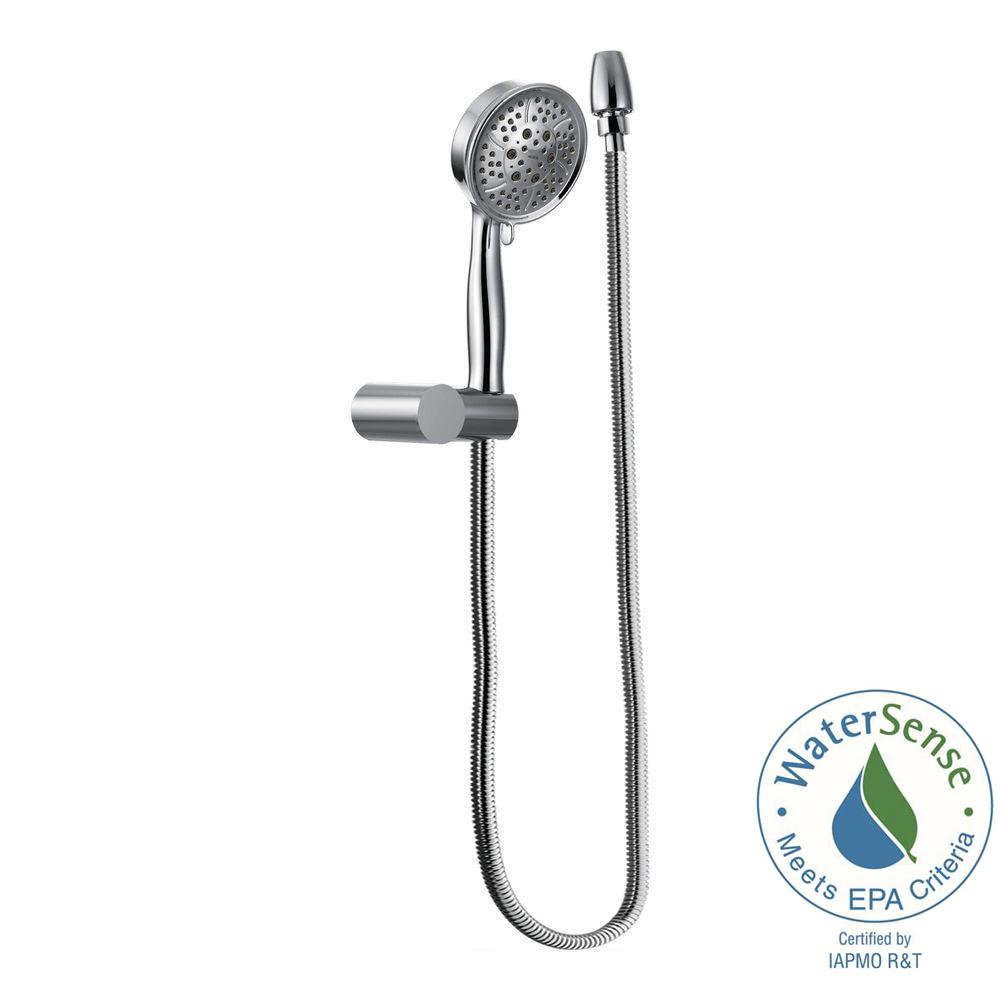 4-Spray Eco-Performance Handheld Handshower with Wall Bracket in Chrome