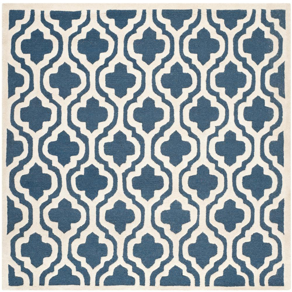 Cambridge Navy/Ivory 8 ft. x 8 ft. Square Area Rug