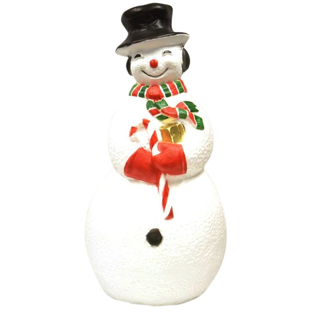 40 In Large Snowman With Light Up0049 The Home Depot