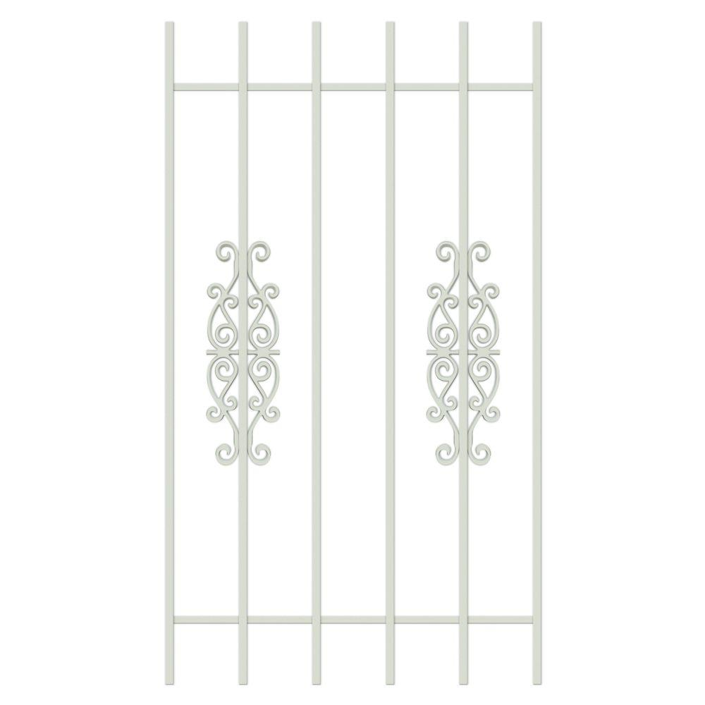 Unique Home Designs Victorian Scrolls 30 in. x 54 in. Almond 6-Bar Window Guard-DISCONTINUED