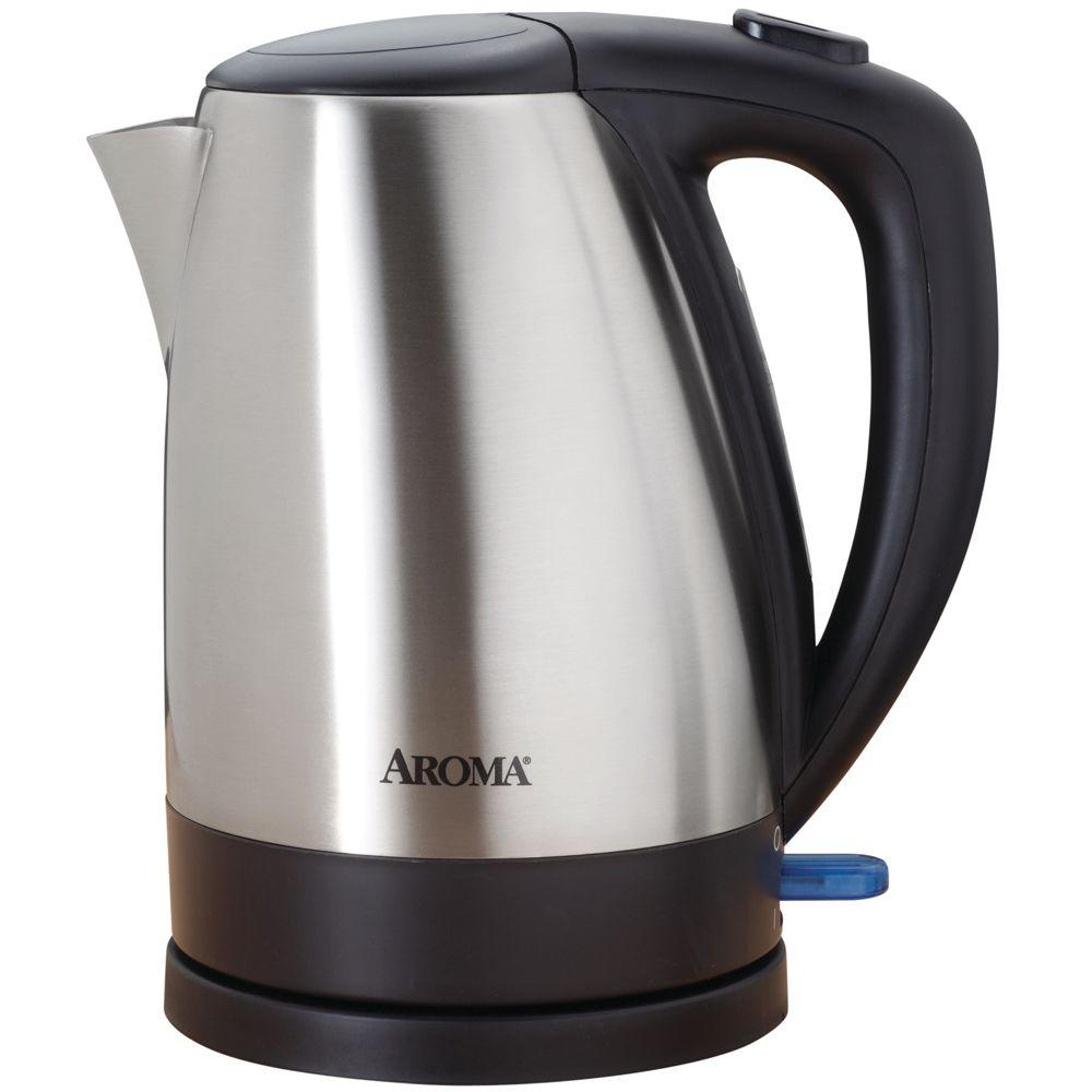 AROMA 7-Cup Cordless Electric Water Kettle in Black