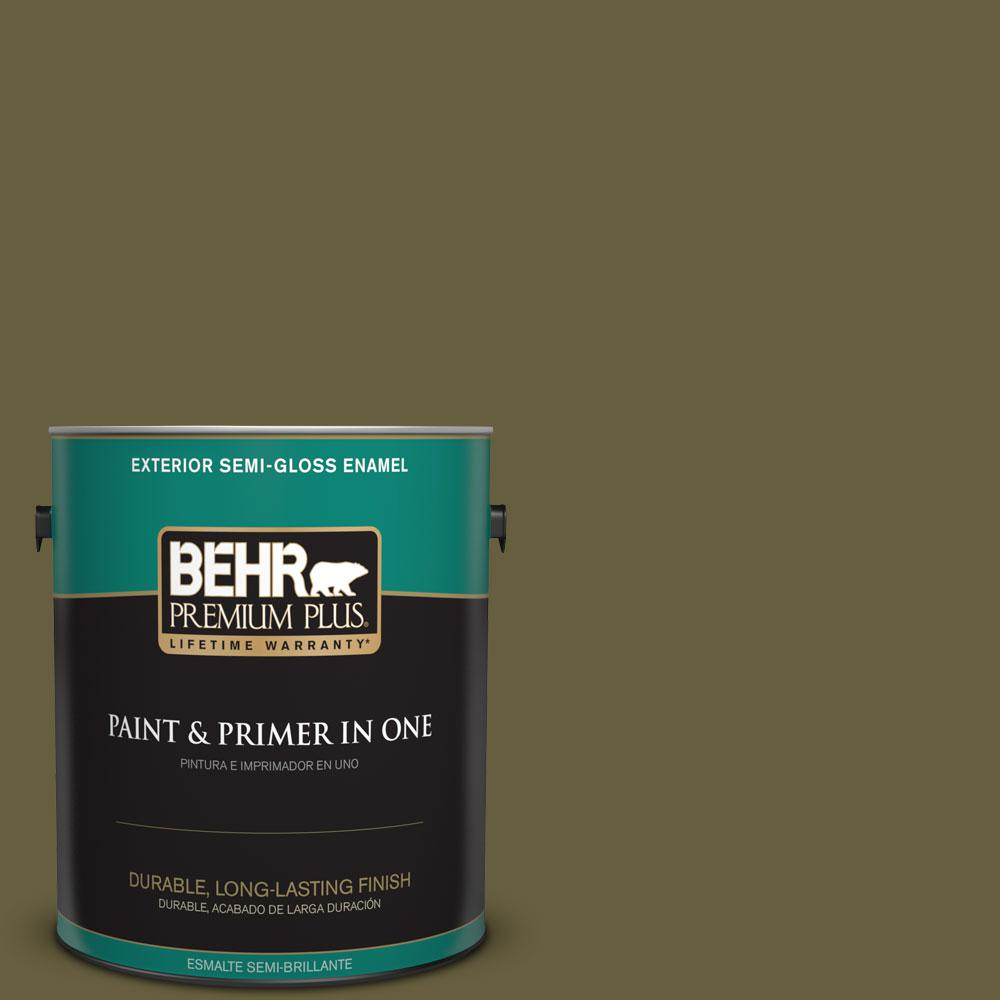 1-gal. #ICC-88 Classic Olive Semi-Gloss Enamel Exterior Paint