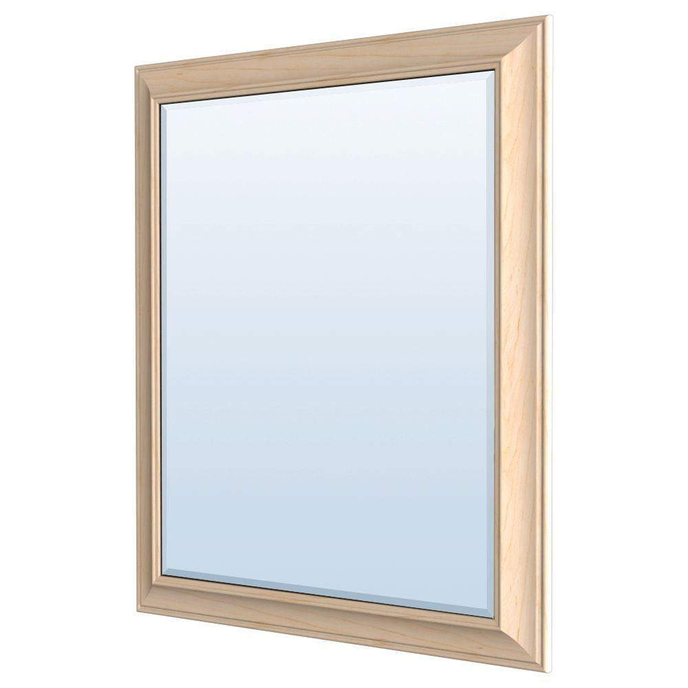 MasterBath 36 in. L x 30 in. W Wall Mirror in Natural Maple