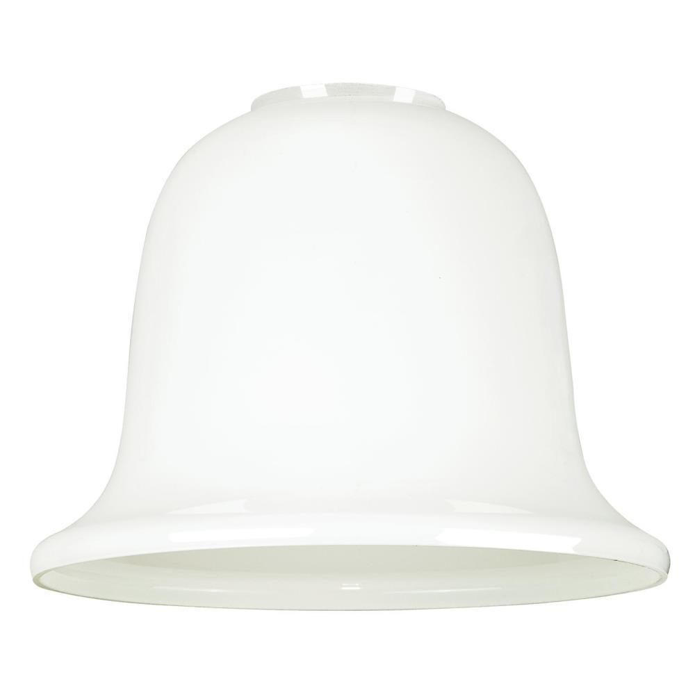 4-7/8 in. White Opal Bell Shade with 2-1/4 in. Fitter and
