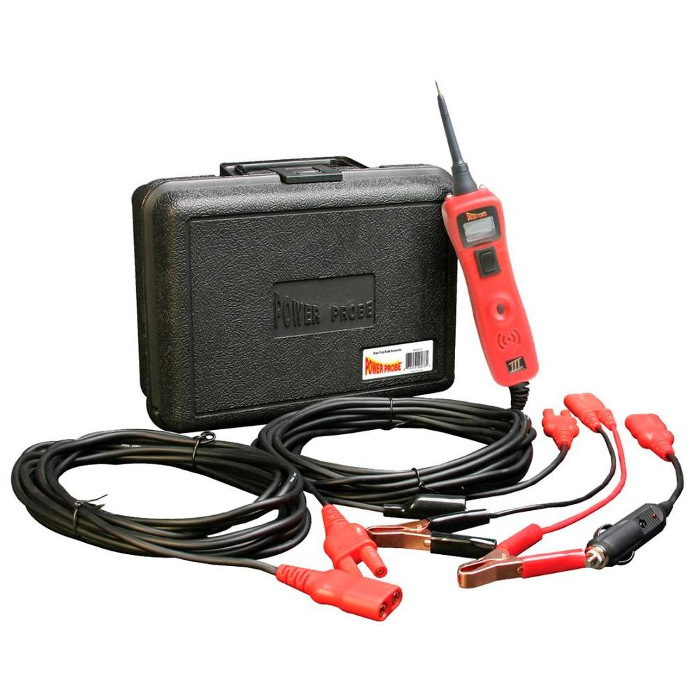 Power Probe Circuit Tester with Case and Accessories - Red-PP319FTCRED -