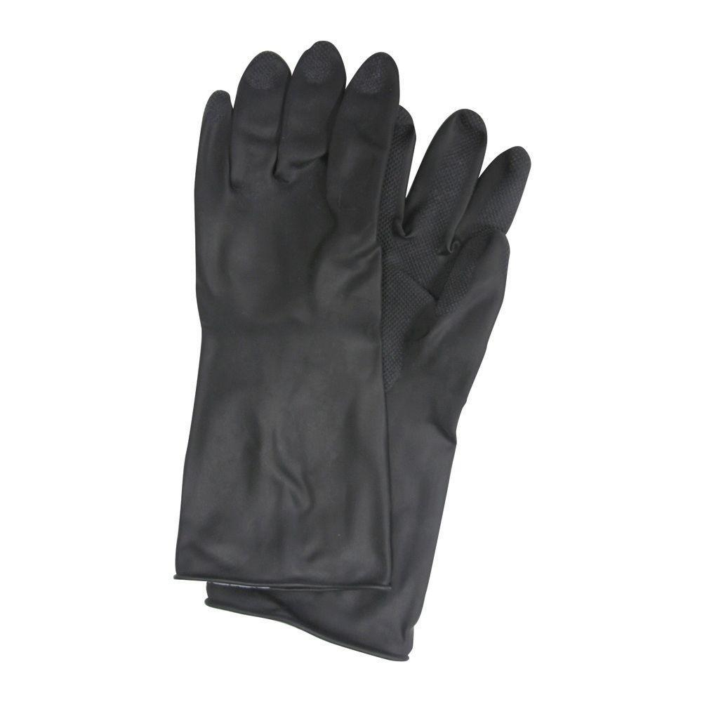 Black Rubber Gloves - XL