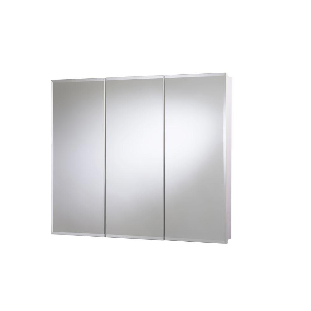 Croydex 36 in. x 30 in. Surface-Mount Tri-View Beveled Mirrored Medicine