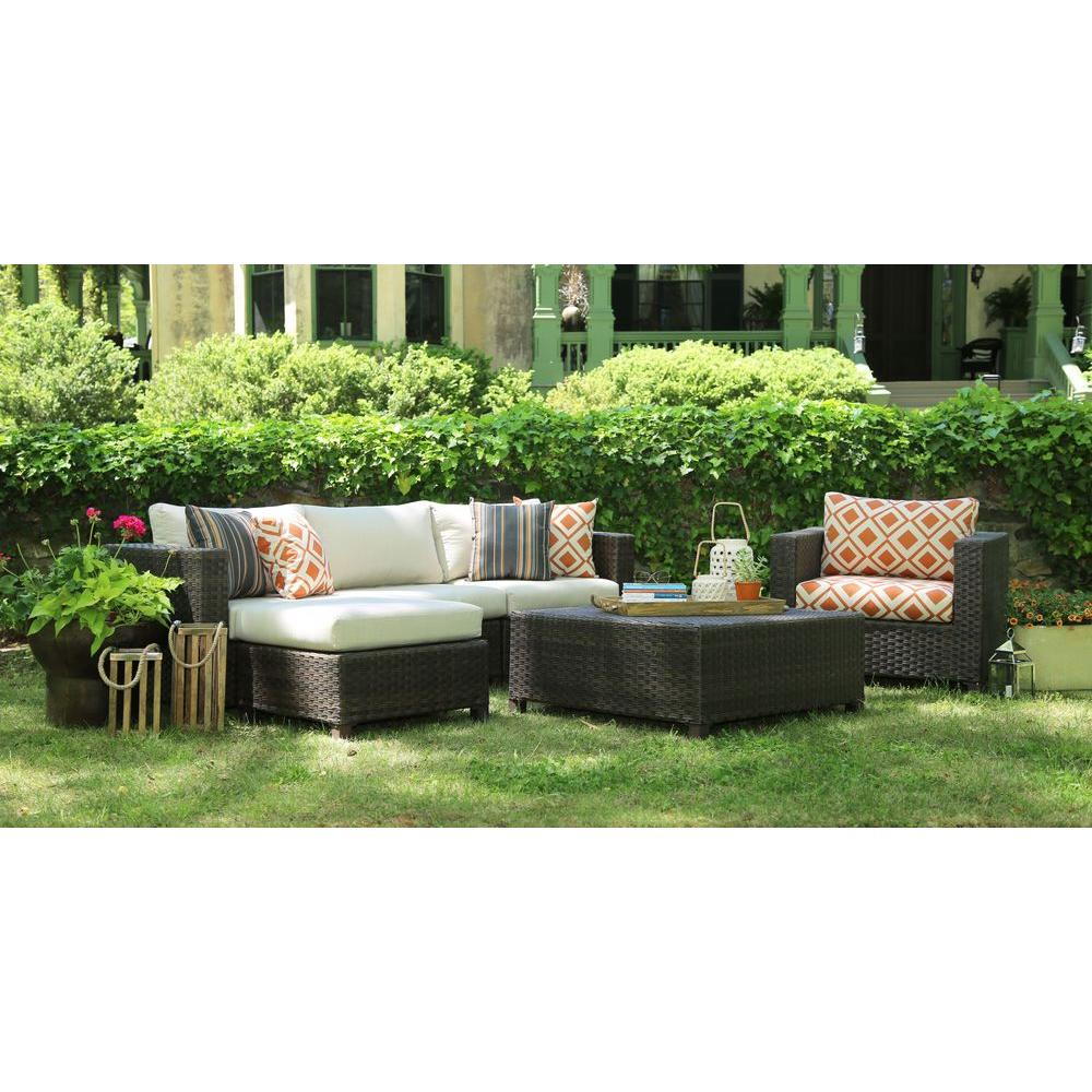 AE Outdoor Biscayne 4-Piece Patio Deep Seating Set with Sunbrella Biscayne Cushions