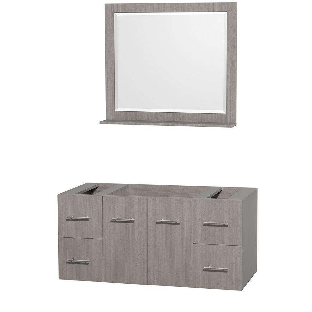 Wyndham collection centra 47 in vanity cabinet with for Wyndham at home