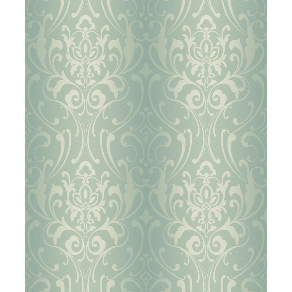 York Wallcoverings 56 sq. ft. Glam Damask Wallpaper-Y6150503 - The Home
