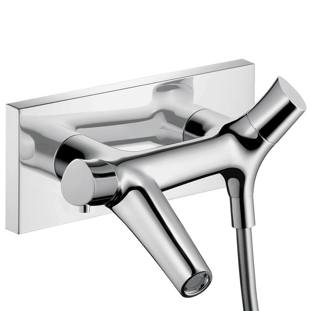 Hansgrohe Starck Organic 2-Handle Thermostatic Valve Trim Kit in Chrome (Valve Not Included)