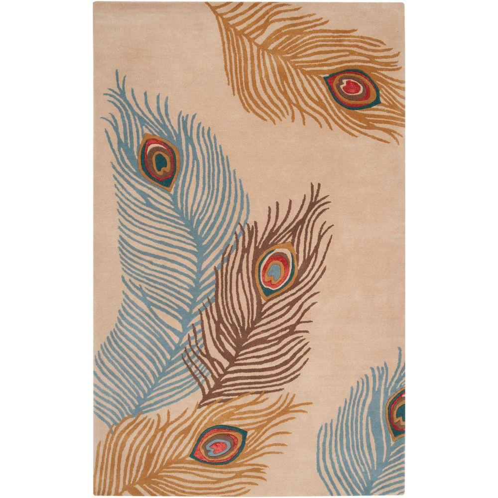 Surya Bob Mackie Beige 2 ft. x 3 ft. Accent Rug