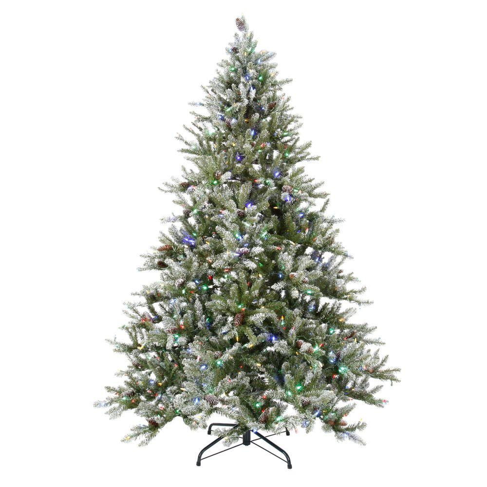 National Tree Company 7.5 ft. LED Pre-Lit Snowy Pine ...