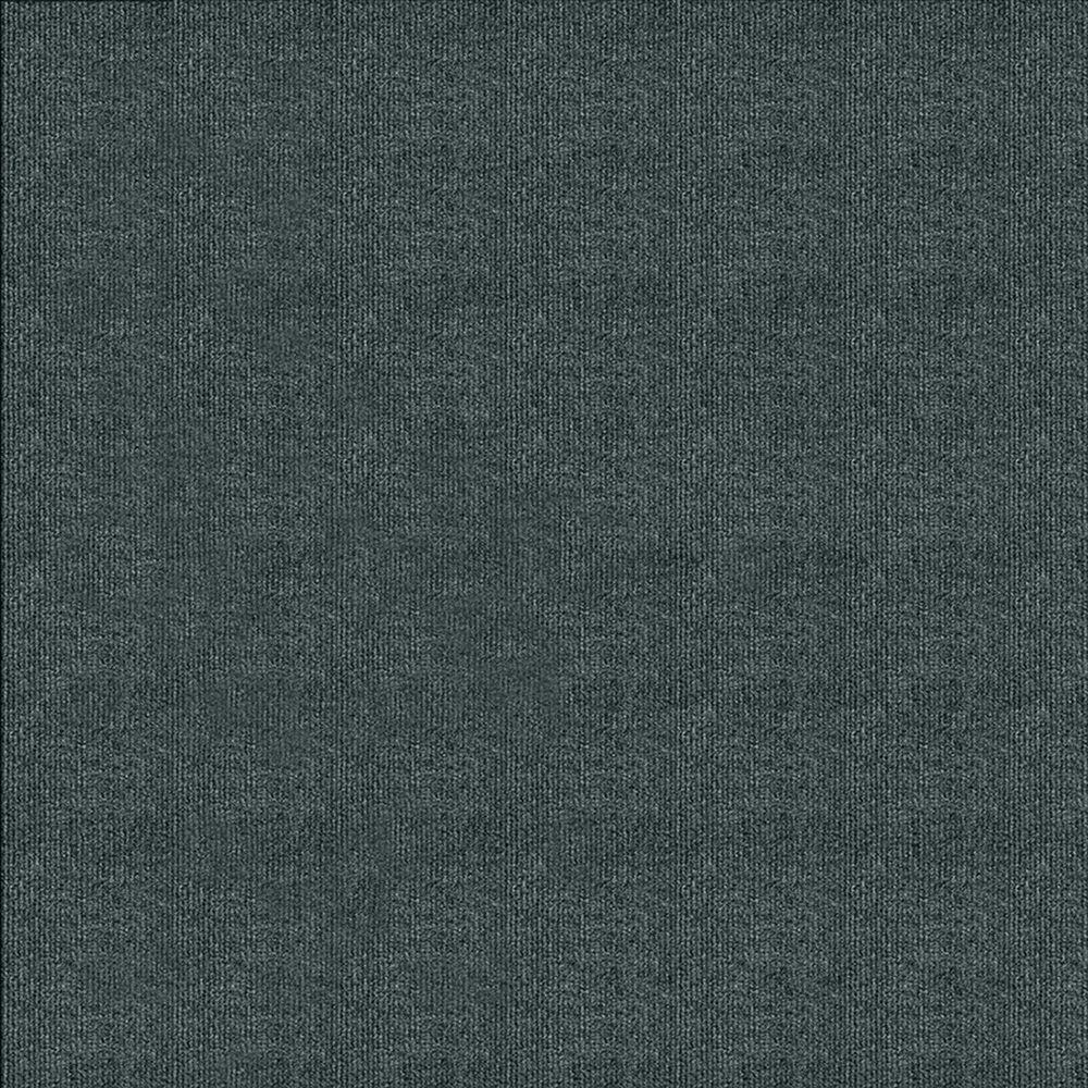 First Impressions Smoke Ribbed Texture 24 in. x 24 in. Carpet