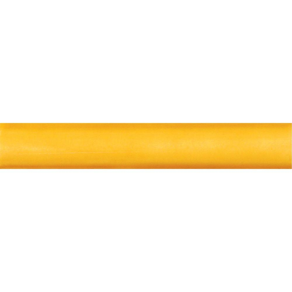 Solistone Hand-Painted Sol Yellow 1 in. x 6 in. Ceramic Quarter