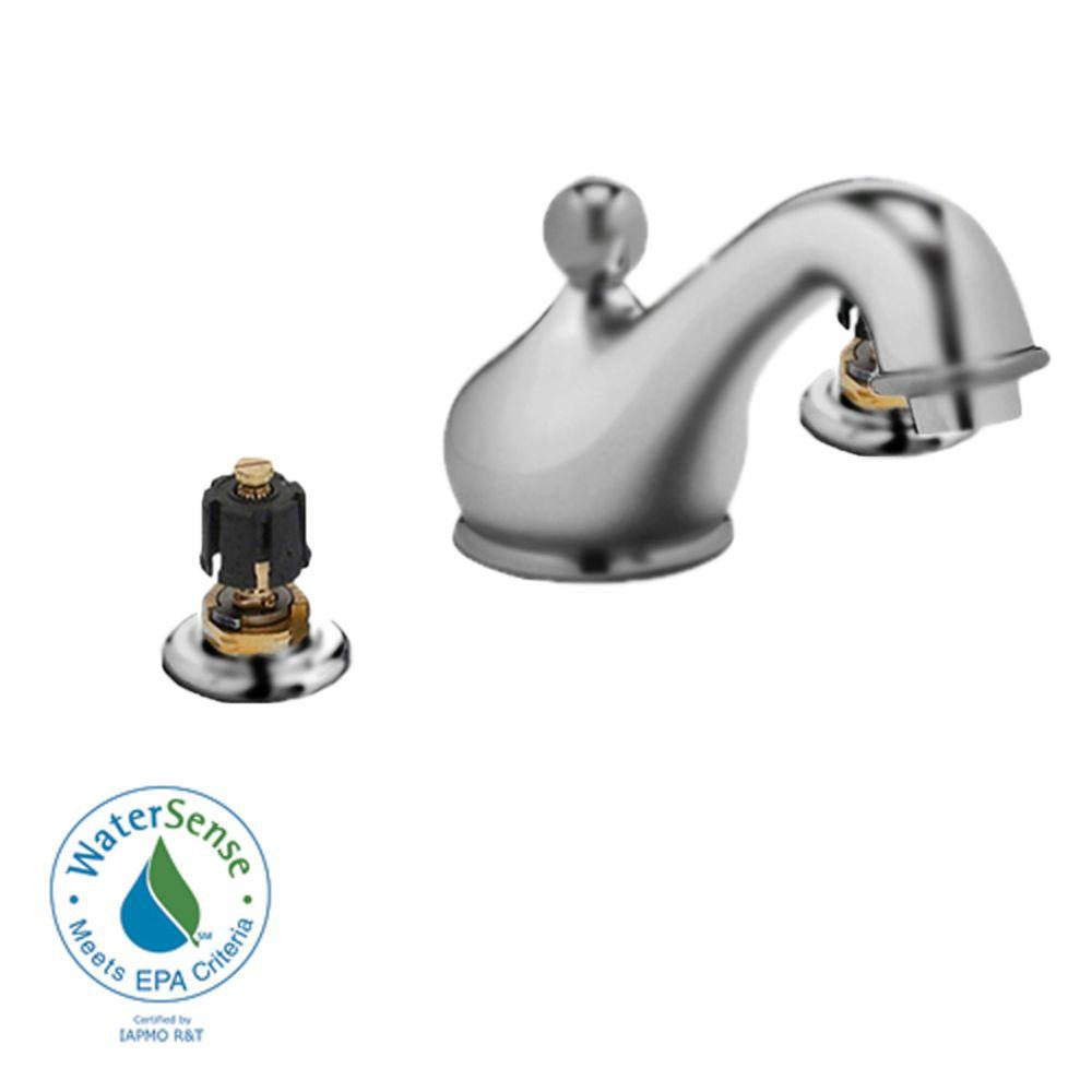 American Standard Amarilis 8 in. Widespread 2-Handle Low-Arc Bathroom Faucet in Satin Nickel with Aerated Spout-DISCONTINUED