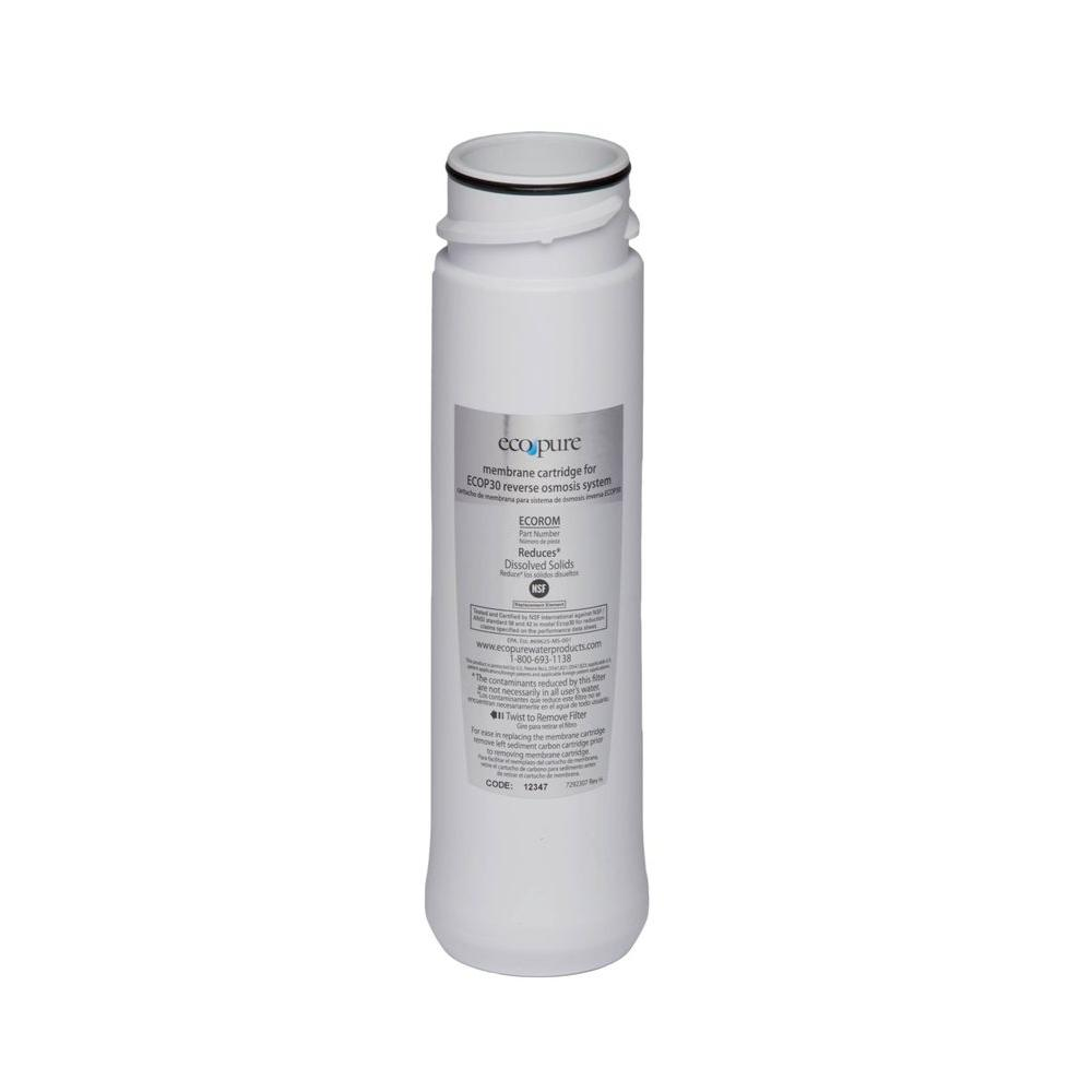 EcoPure Replacement Membrane for Reverse Osmosis Water Filtration System-ECOROM9