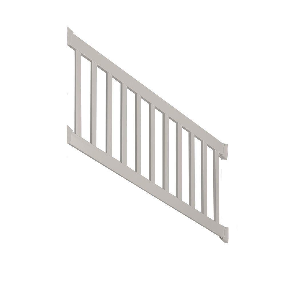 Walton 3 ft. x 72 in. Vinyl Tan Stair Railing Kit