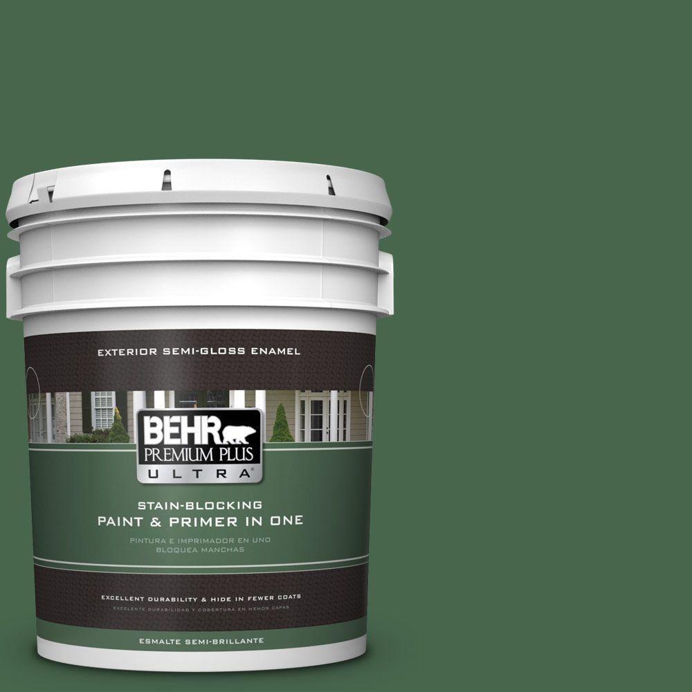 BEHR Premium Plus Ultra 5-gal. #460D-7 Sabal Palm Semi-Gloss Enamel Exterior