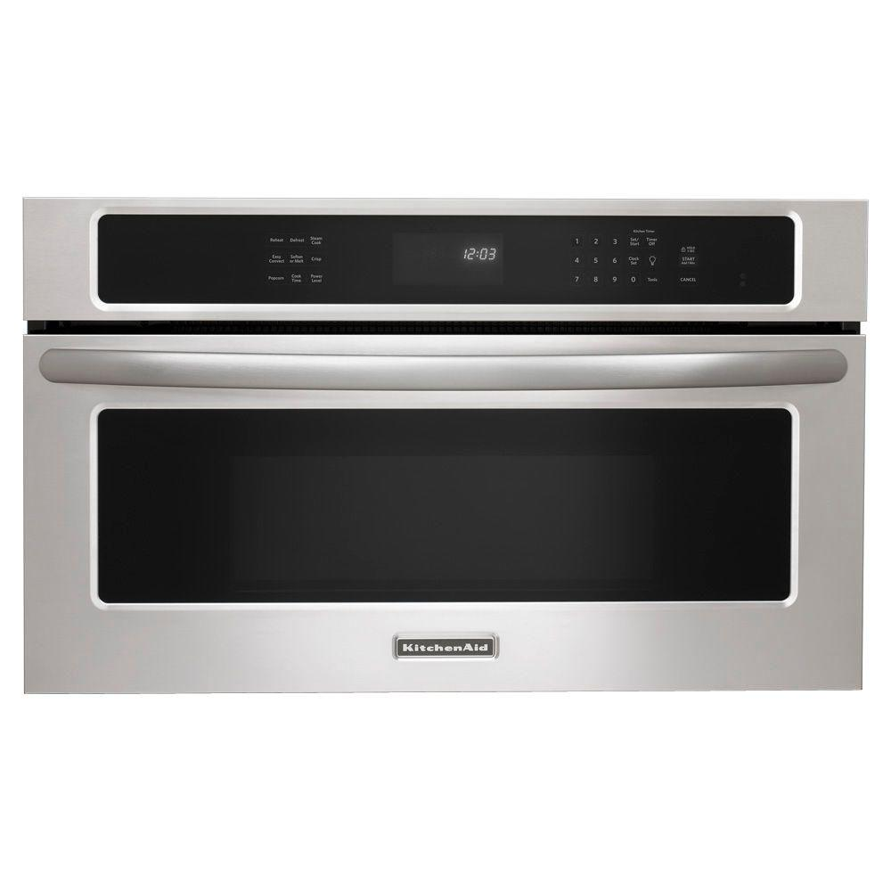 Kitchenaid architect series ii 1 4 cu ft built in microwave oven with convection in stainless - Kitchenaid microwave ...