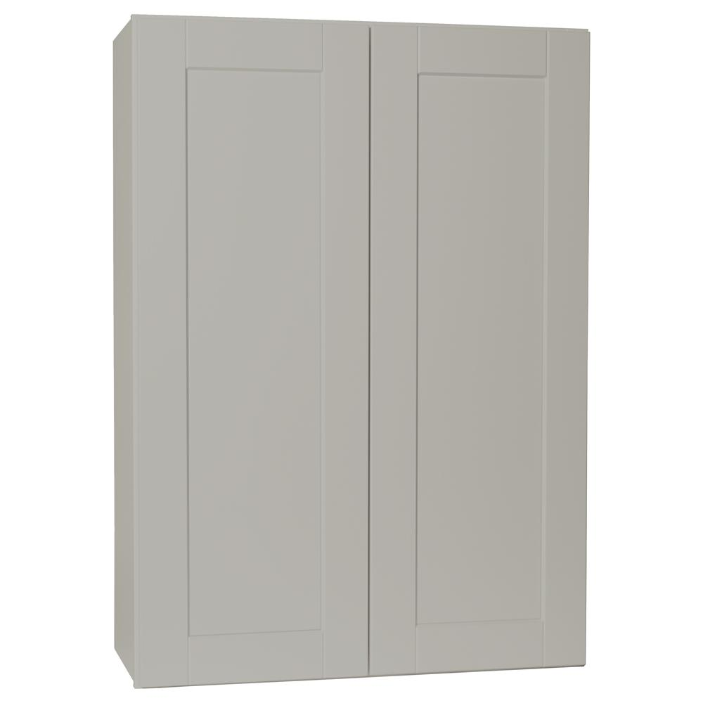 Hampton Bay Shaker Assembled 12x42x12 in. Wall Kitchen Cabinet in ...