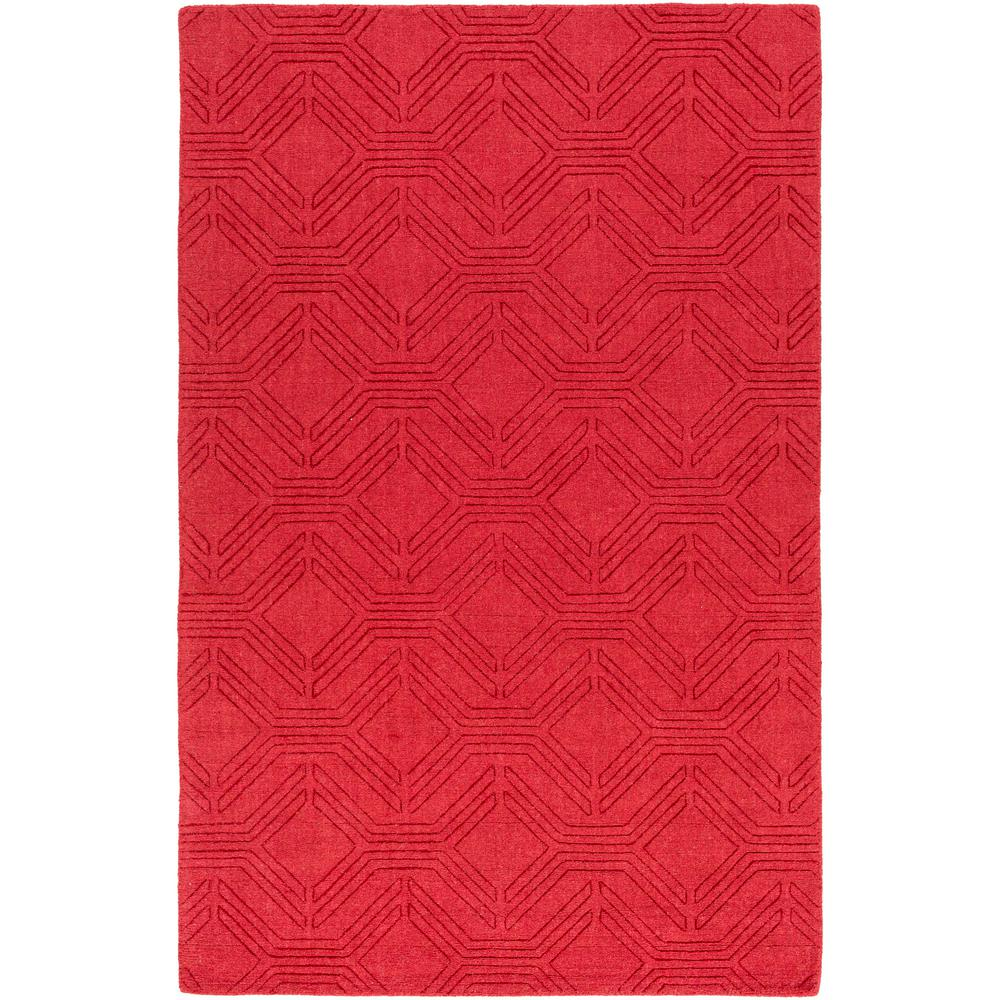 Apolonija Bright Red 8 ft. x 10 ft. Area Rug