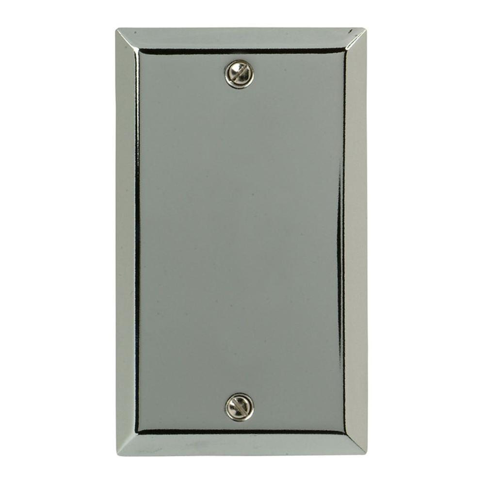 Amerelle Century Steel1 Blank Wall Plate - Chrome