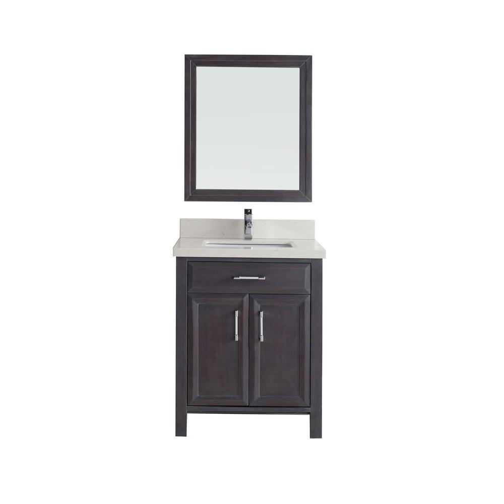 Studio Bathe Calais 28 in. Vanity in French Gray with Solid