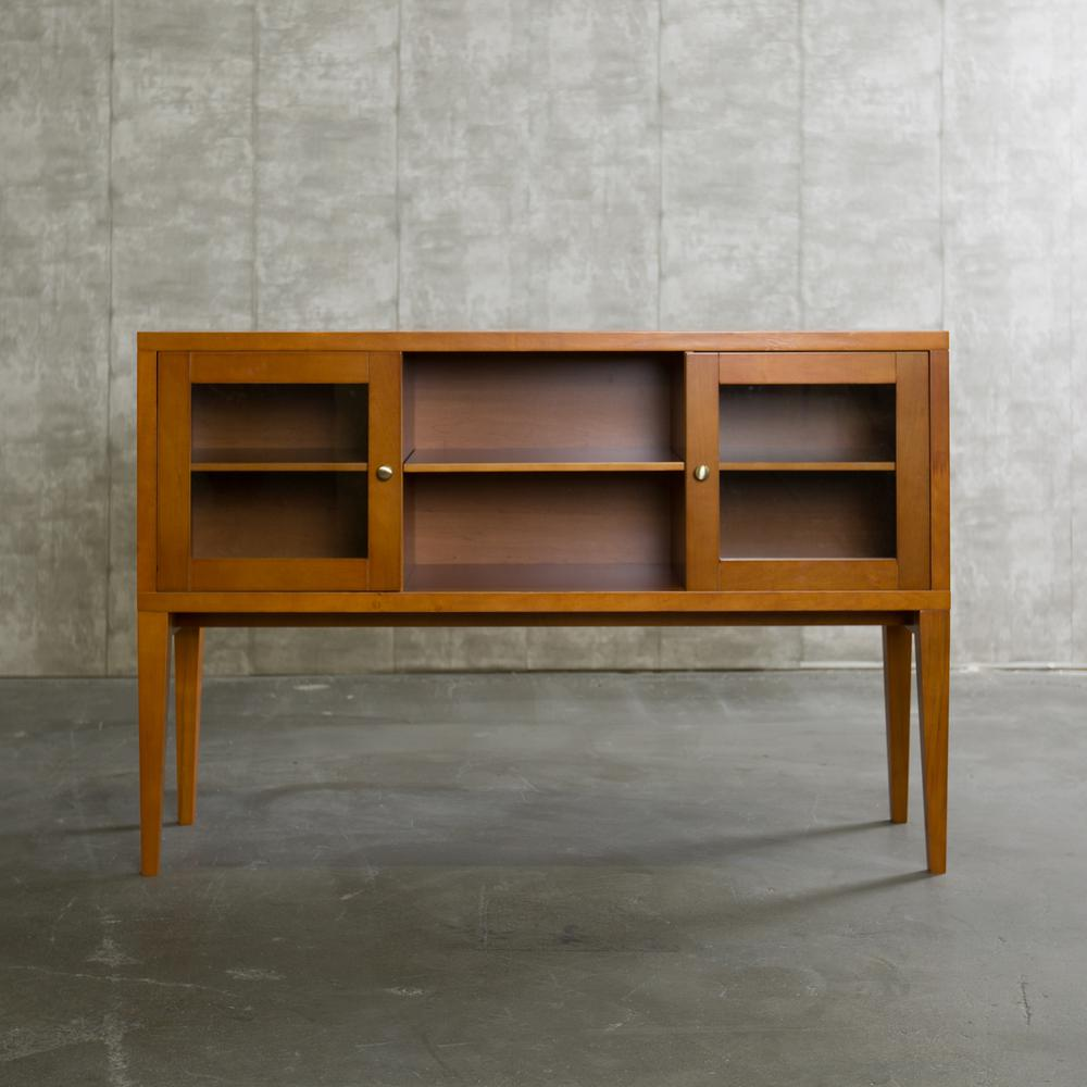 Walker Edison Furniture Company 52 In Hepworth Wood Buffet With Tapered Legs Acorn Hdu52hwac