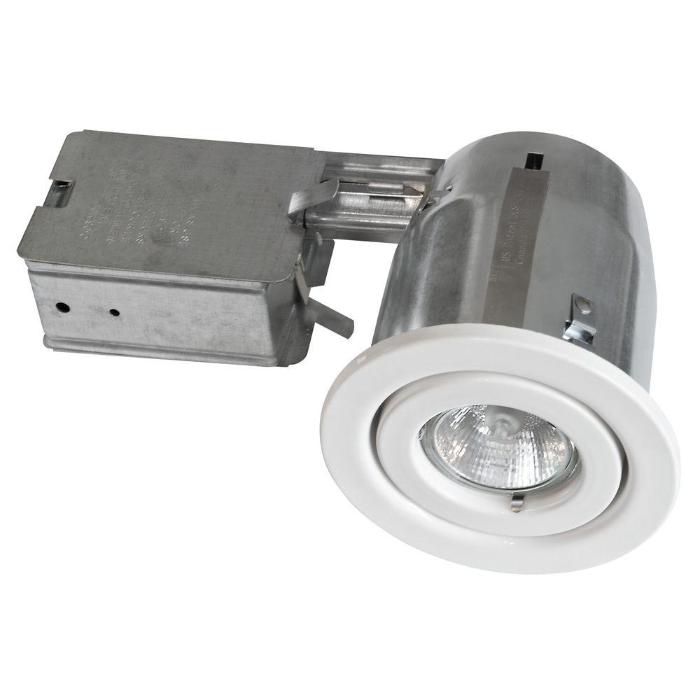 BAZZ 300 Series 4 in. White Recessed Halogen Lighting Kit (10-Pack)-300-130M