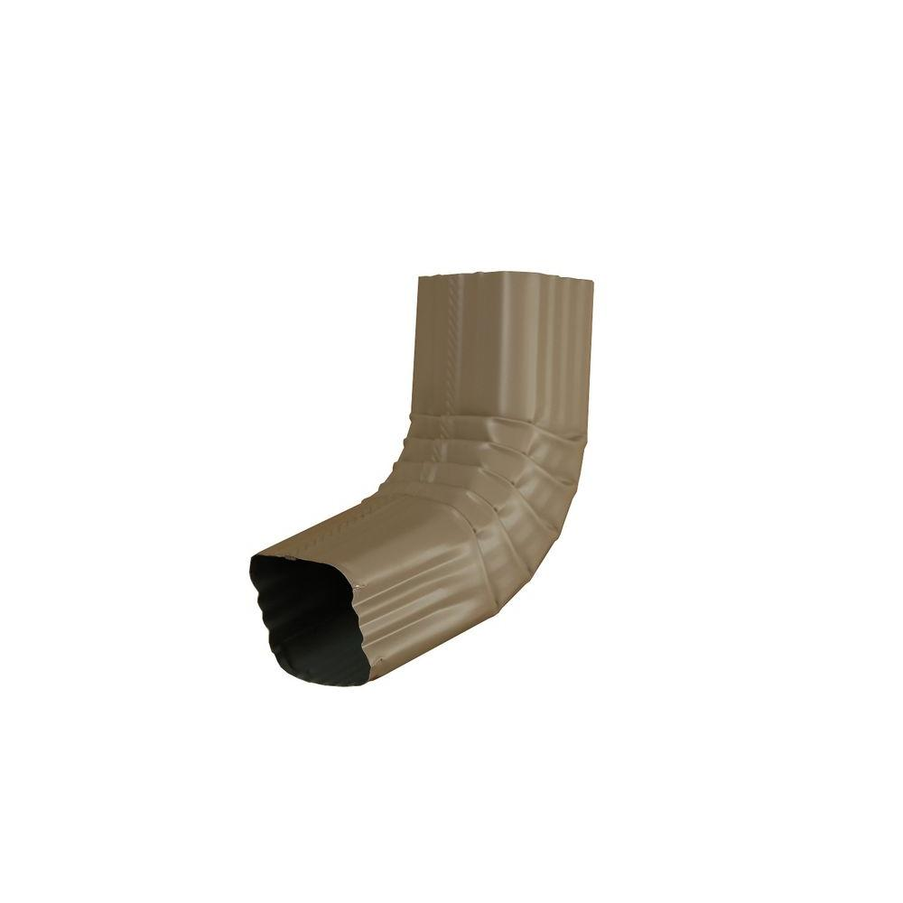 3 in. x 4 in. Natural Clay Aluminum Downspout A Elbow