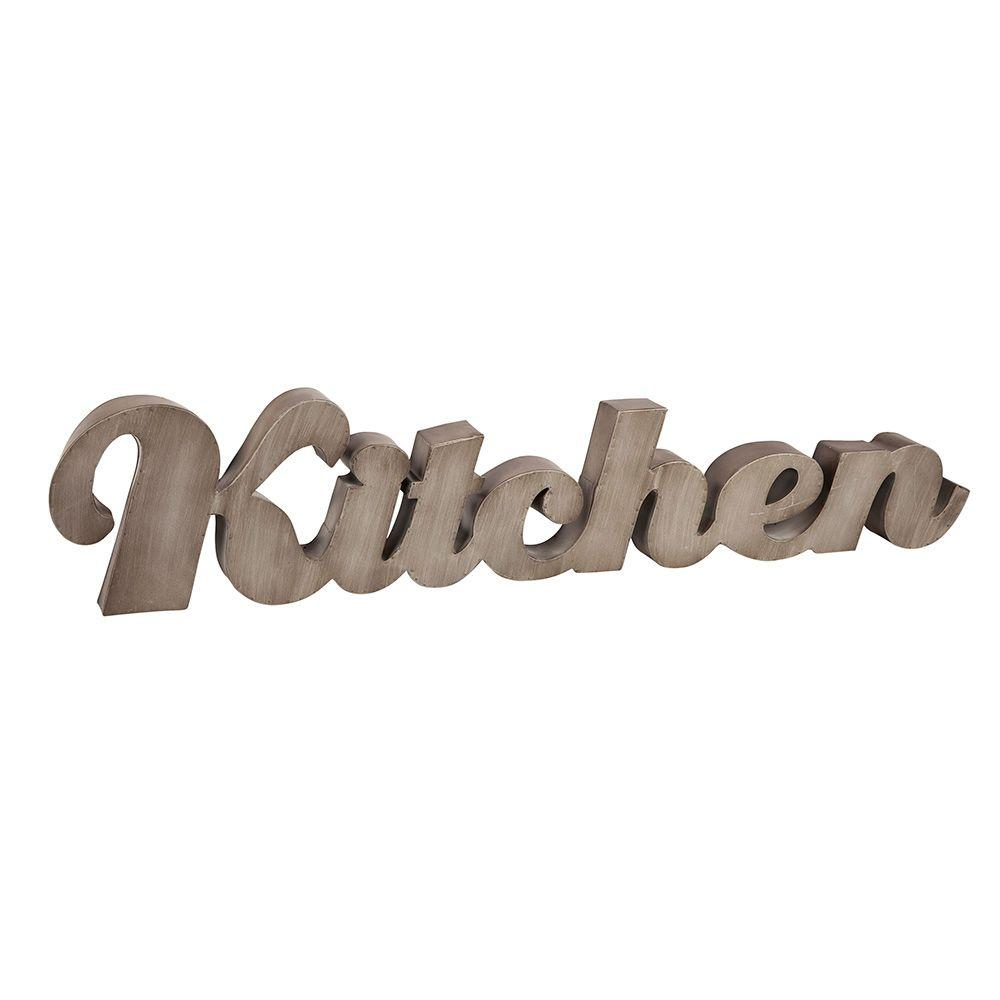 42 in. L Metal Kitchen Wall Sign
