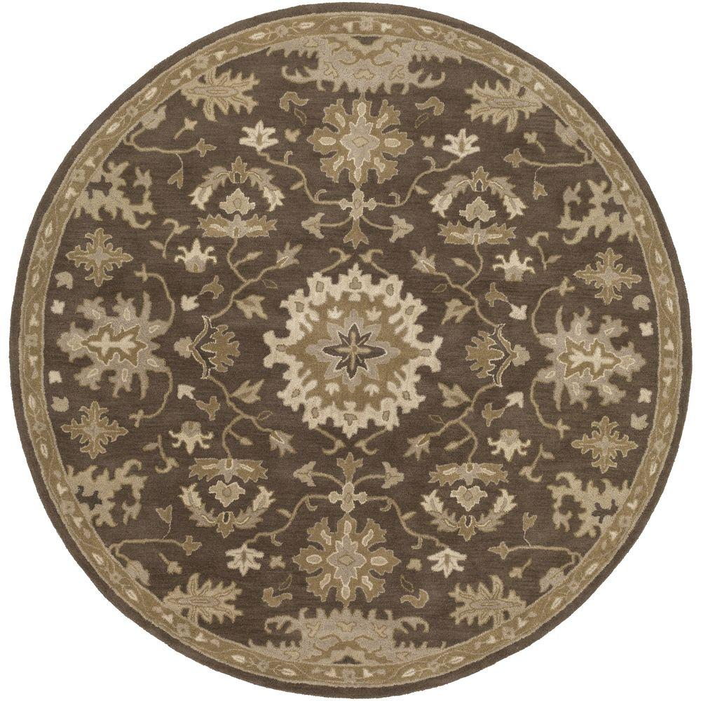 8 Ft Round Area Rug: Artistic Weavers Gilgamesh Chocolate 8 Ft. X 8 Ft. Round