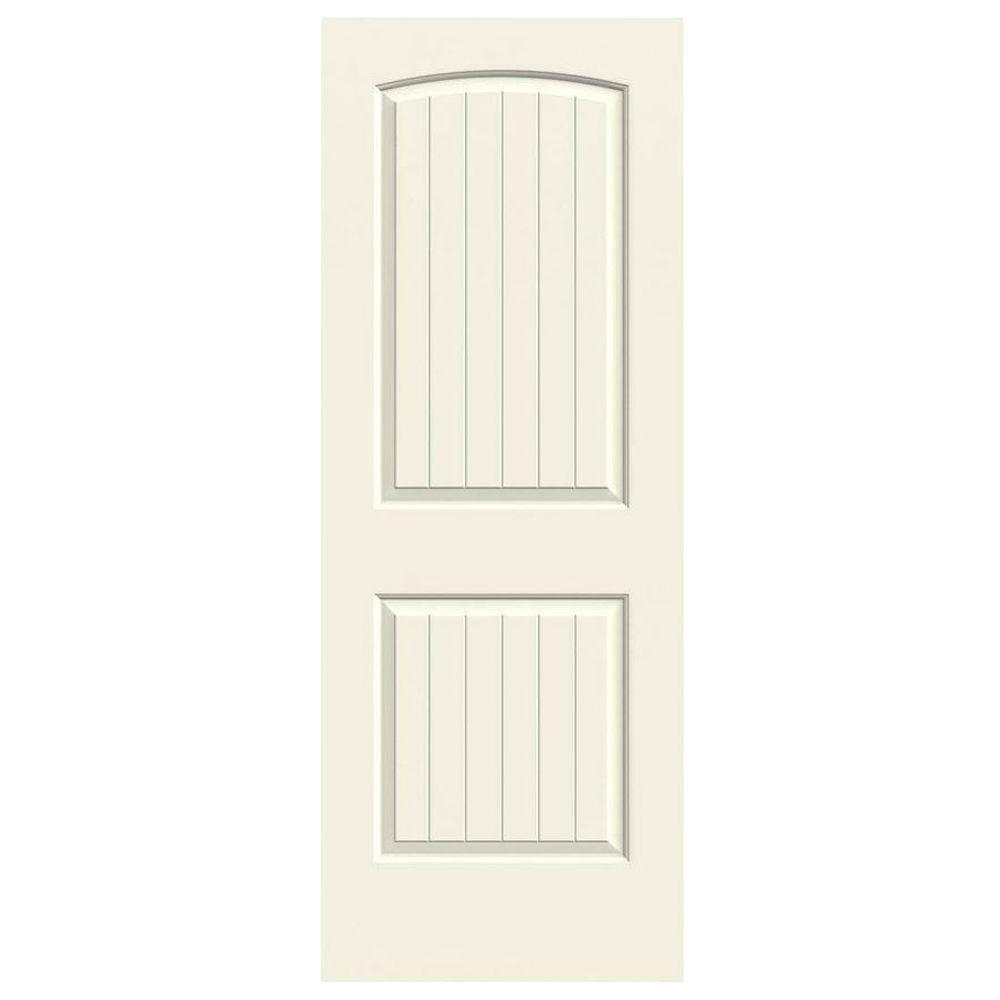 36 in. x 80 in. Molded Smooth 2-Panel Arch Plank French