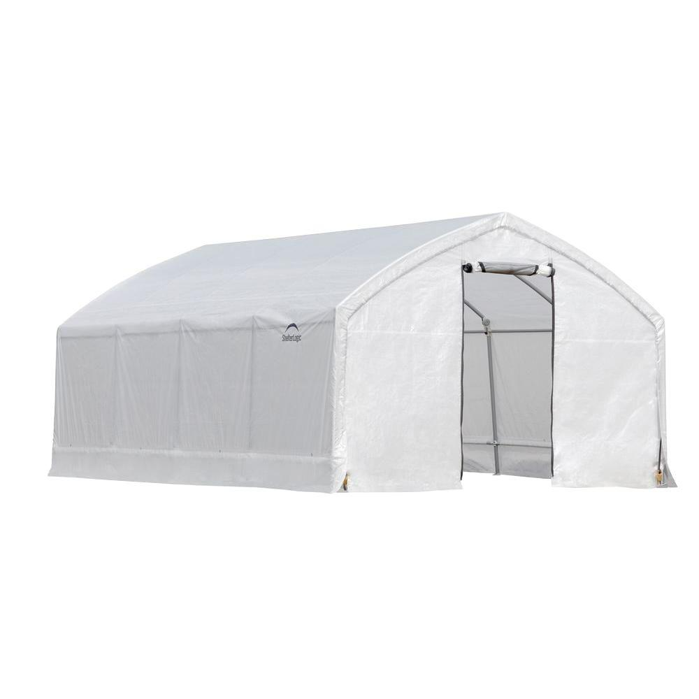 AccelaFrame 12 ft. x 20 ft. x 9 ft. Steel and Polyethylene Translucent Greenhouse Greenhouse, Hoop House, Grow House, High Tunnel, Hothouse, Plant House, Grow Tunnel, Garden Supplies