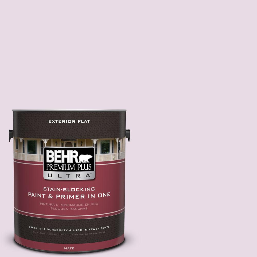 BEHR Premium Plus Ultra 1-gal. #M110-1 Twinkled Pink Flat Exterior Paint
