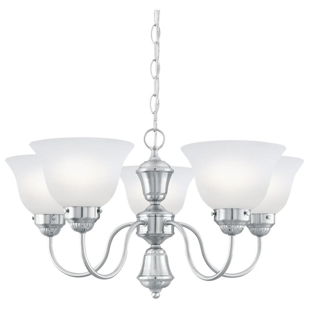Philips Whitmore 5-Light Brushed Nickel Hanging Chandelier