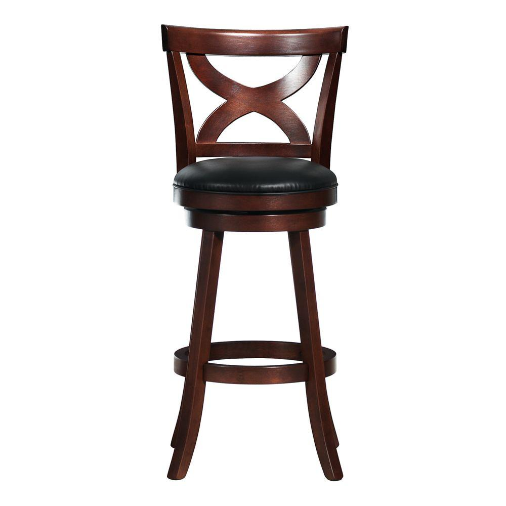 HomeSullivan 29 in. Detailed Back Swivel Counter Stool-DISCONTINUED