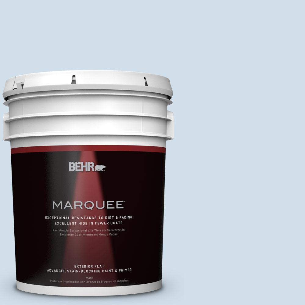 BEHR MARQUEE 5-gal. #M530-1 Ice Drop Flat Exterior Paint-445005 - The