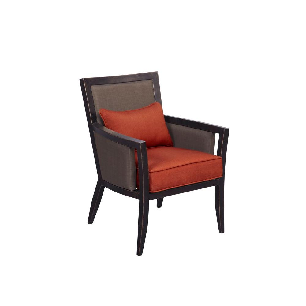 Greystone Patio Dining Chair with Cinnabar Cushions (2-Pack) -- CUSTOM