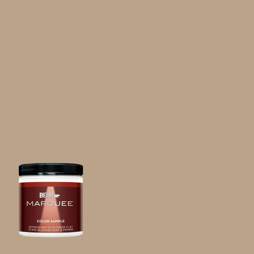 BEHR MARQUEE 8 oz. #710D-4 Harvest Brown One-Coat Hide Interior/Exterior Flat/Matte Paint Sample