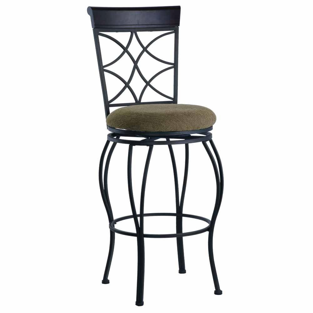 Linon home decor claridge 32 in dark brown cushioned bar stool 55816jute01u the home depot Home depot wood bar stools