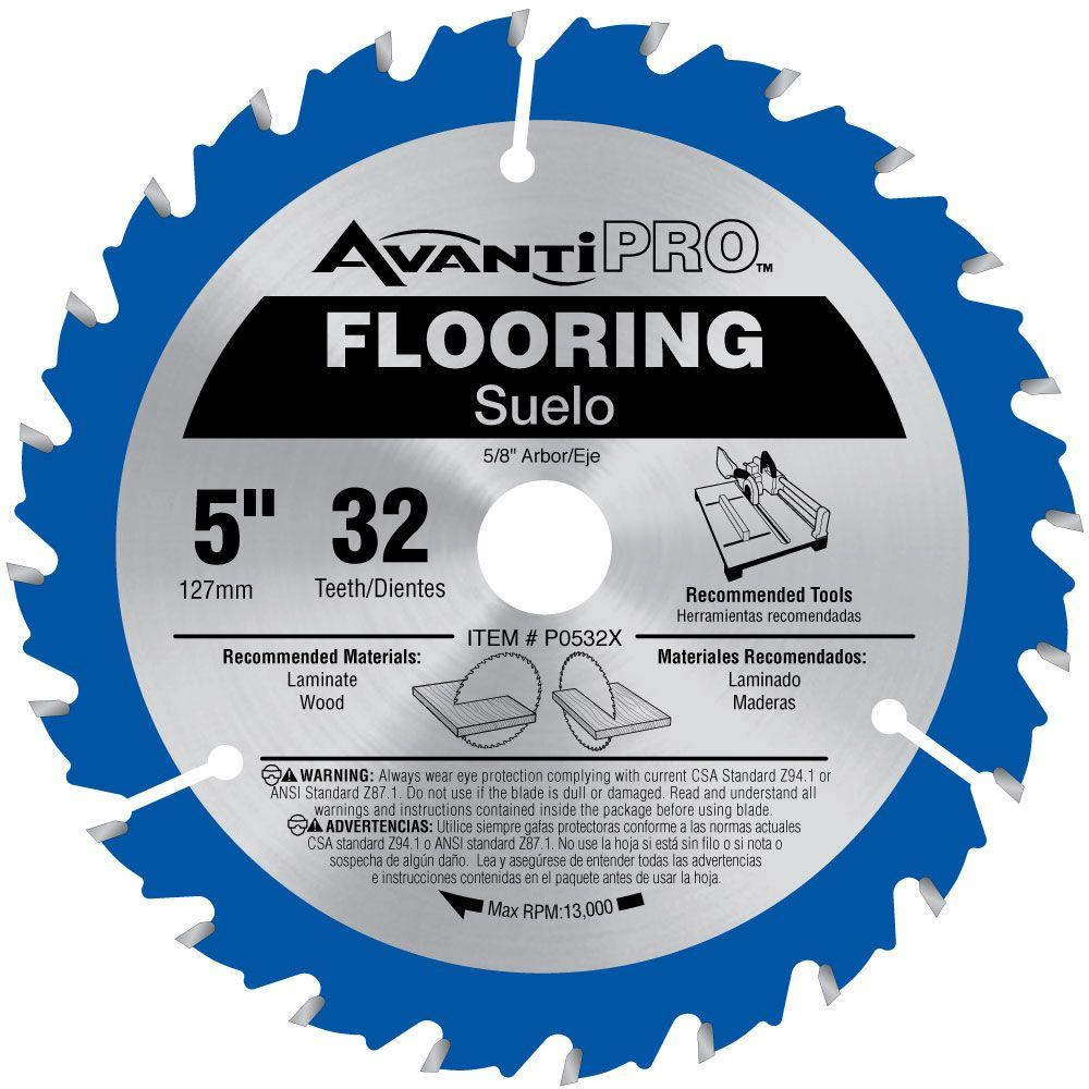 Avanti Pro 5 in. x 32 Tooth Wood and Laminate Flooring Saw Blade