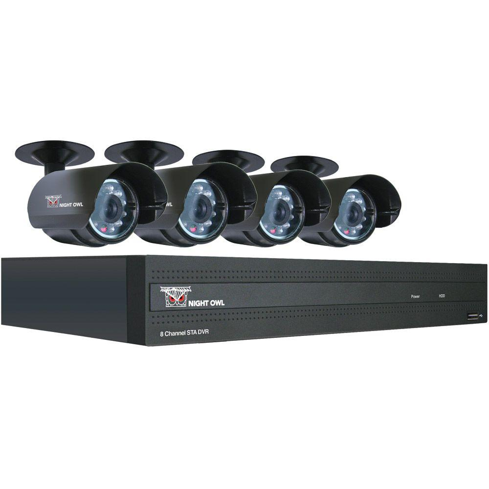 Night Owl 8 CH 500GB Surveillance System with 4 Indoor/Outdoor 420 TVL Cameras-DISCONTINUED