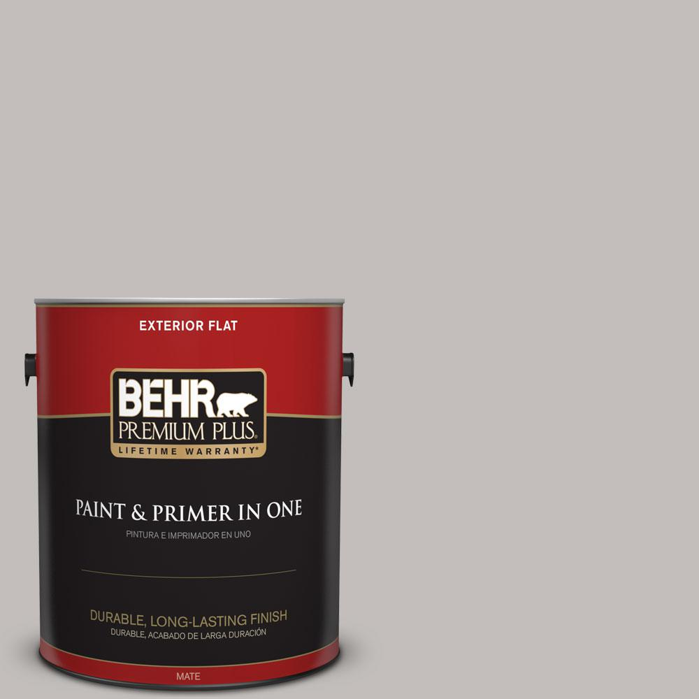 1 gal. #HDC-WR15-3 Noble Gray Flat Exterior Paint