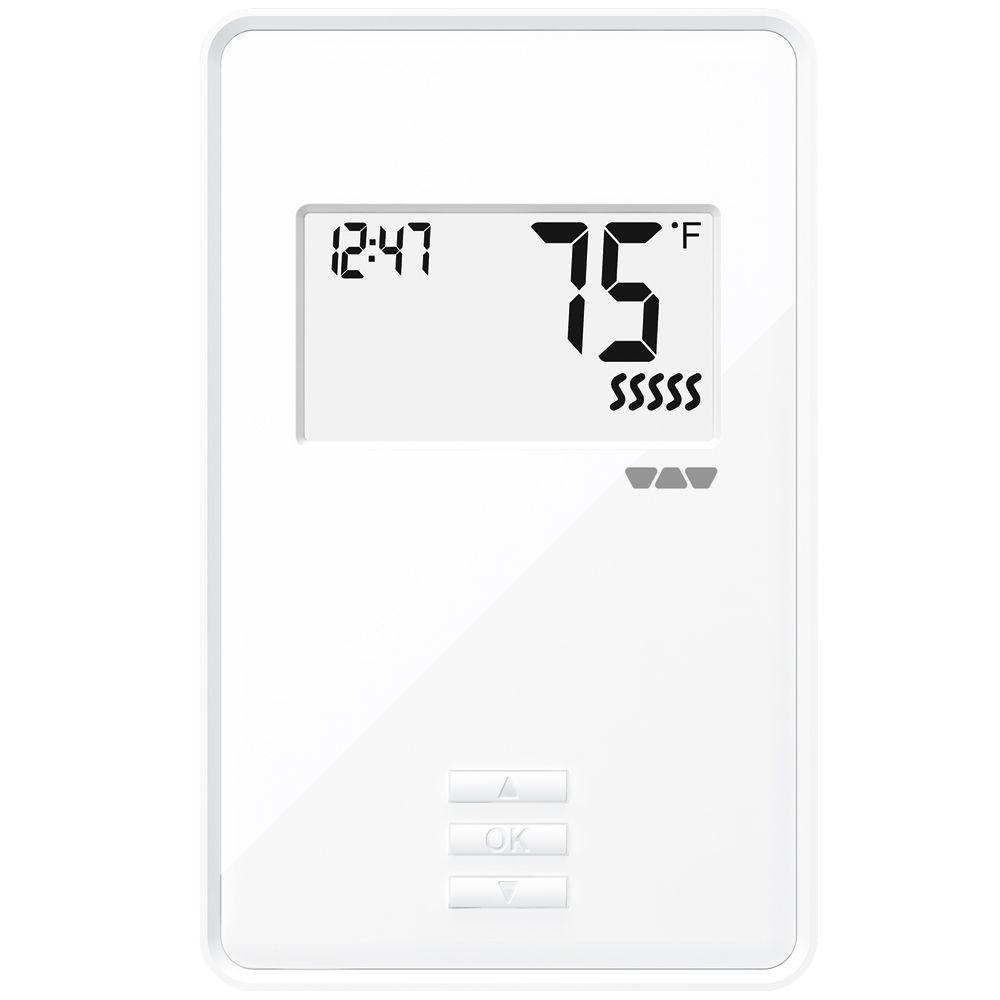 Ditra-Heat Non-Programmable Thermostat, Bright White