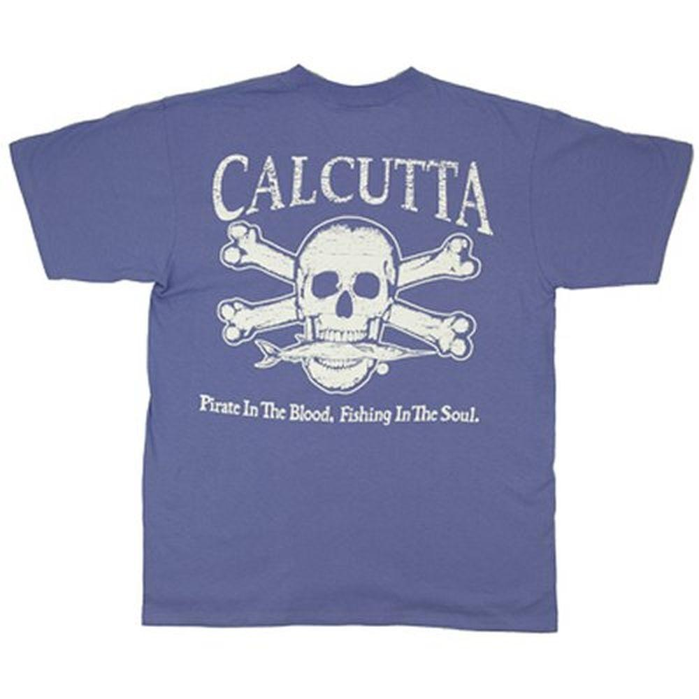Calcutta Adult Small Original Logo Short Sleeved T-Shirt in Periwinkle Blue