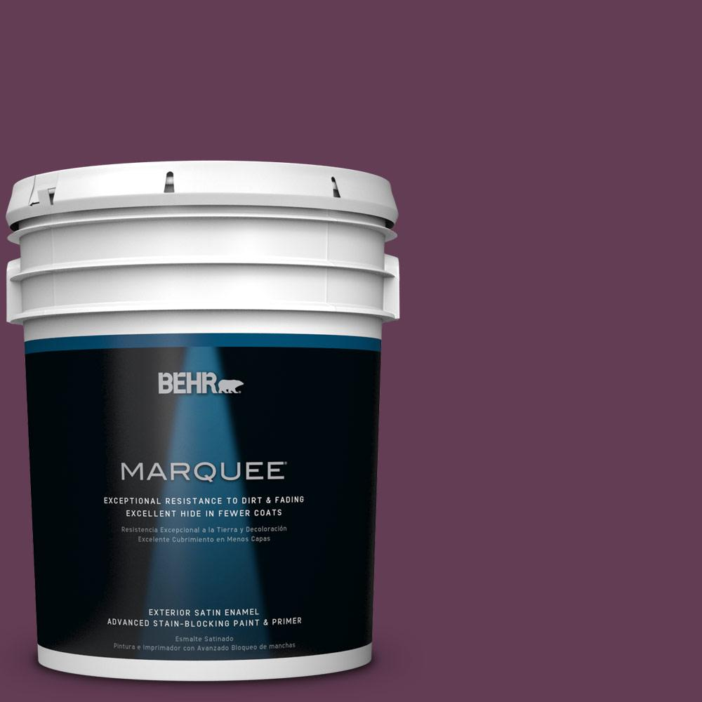 BEHR MARQUEE 5-gal. #S-G-690 Delicious Berry Satin Enamel Exterior Paint